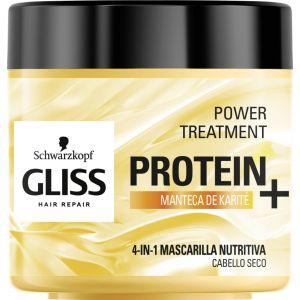 Mascarilla proteinas 4 en 1 nutritiva con manteca de karite gliss en tarro de 400ml