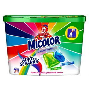 Detergente cápsulas adios separar micolor 22 dosis