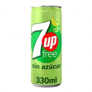 Refresco free lima-limon seven up lata sleek 33cl