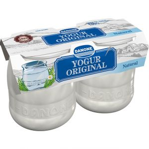 Yogur original natural danone p-2x135g