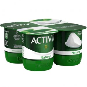 Yogur natural activia p-4x120g