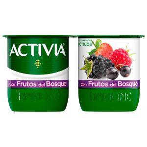 Yogur con frutas del bosque activia p-4x120g