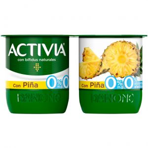 Yogur desnatado con piña danone p-4x125g