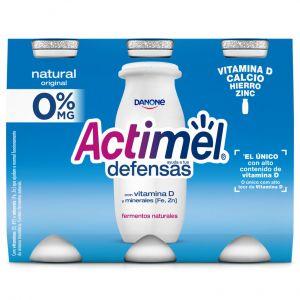 Bebida lactea natural 0% actimel p-6x100g