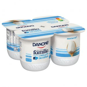 Yogur natural danone p-4x120g