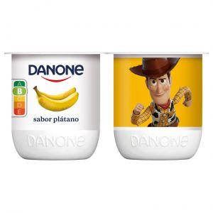 Yogur platano danone p-4x120g