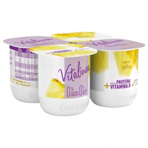 Yogur piña vitalinea p-4x120g