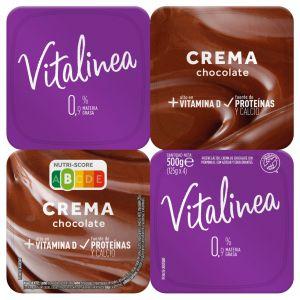 Crema chocolate vitalinea p4x125g