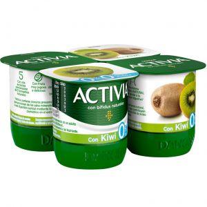 Yogur desnatado con kiwi activia p-4x125g