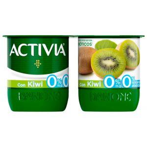 Yogur desnatado con kiwi activia p-4x120g