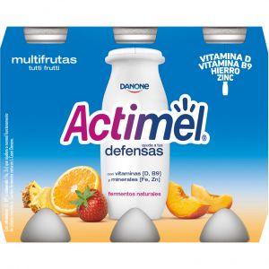 Bebida lactea multifrutas actimel p-6x100g