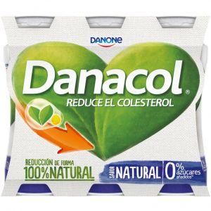 Bebida lactea natural  danacol p-6x100g