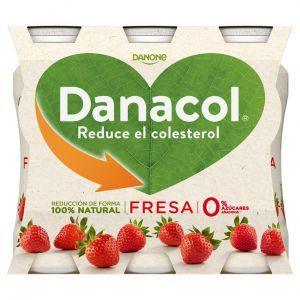 Bebida lactea  fresa danacol p-6x100g