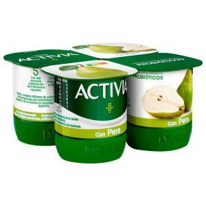 Yogur con peras activia p-4x120g