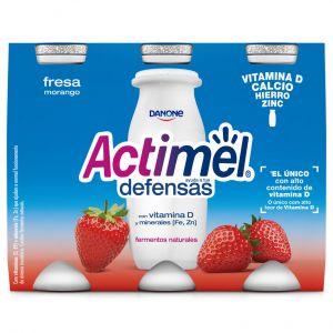 Bebida lactea fresa actimel p-6 x 100 g