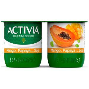 Yogur soja frutas exoticas activia p-4x120g