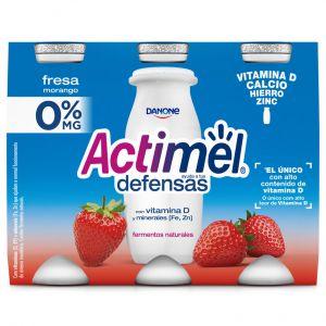 Bebida lactea fresa 0% actimel p-6 x 100 g