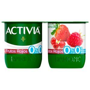 Yogur desnatado con frutos rojos danone p-4x120g