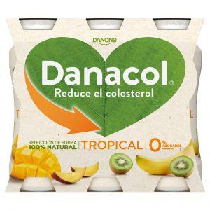 Bebida lactea tropical fresa danacol p-6 x 100 g