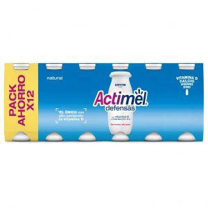 Bebida lactea natural actimel p-12x100g
