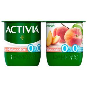 Yogur desnatado con melocoton activia p-4x120g