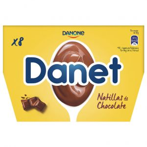 Natillas chocolate danet p8x125g