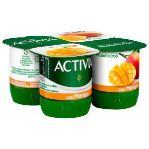 Yogur mango activia p-4x120g