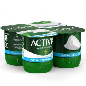 Yogur natural 0% edulcorado activia p-4x120g