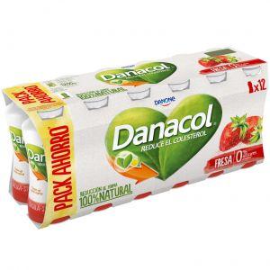 Bebida lactea fresa danacol p-12x100g
