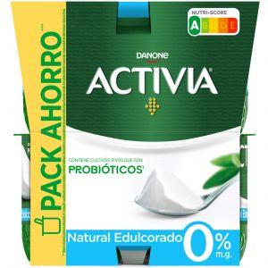 Yogur natural edulcorado activia p-8x120g