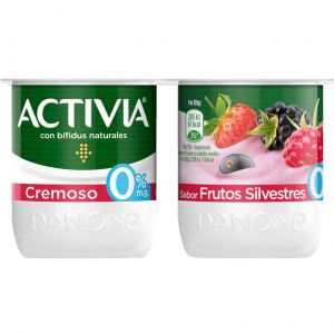 Yogur cremoso frutas silvestres activia p-4x120 g