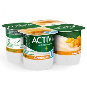 Yogur cremoso mango activia p-4x120 g