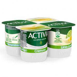 Yogur cremoso lima limon activia p-4x120 g