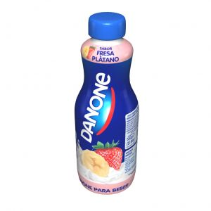 Danone yogur líquido sabor fresa y plátano 550g