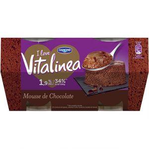 Mousse  de chocolate vitalinea p4x60g