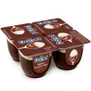 Danone danet natillas de chocolate y nata p4x100gr
