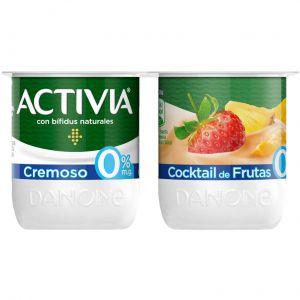 Yogur cremoso 0% multifruta activia p-4x125g