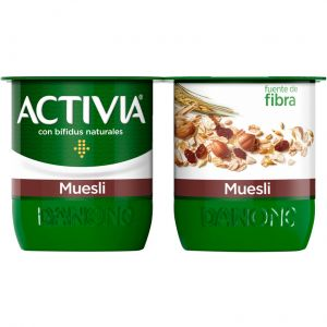 Yogur muesli activia p-4x120g
