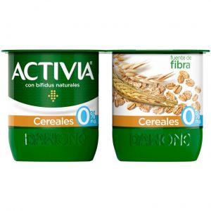 Yogur cerales 0% activia p-4x120g