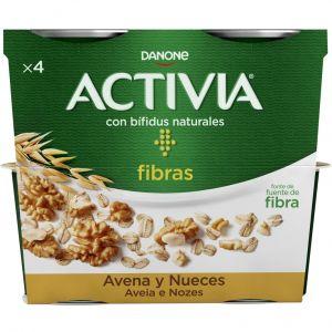 Yogur avena nueces activia p-4x120g
