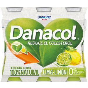 Bebida lactea de lima limón danacol pack de 6 unidades de 100g