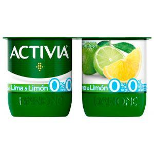 Yogur 0% lima limon activia p-4x120g