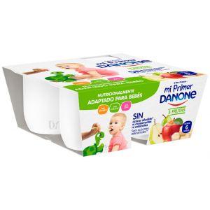 Yogur  3 frutas mi primer danone p-4x100g