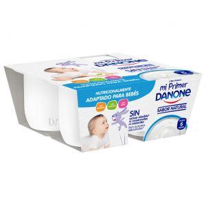 Yogur  natural mi primer danone p-4x100g