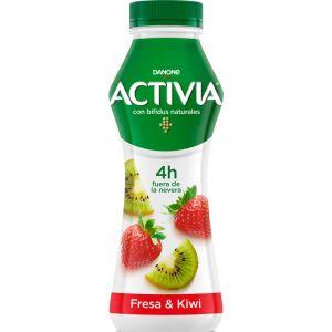 Yogur liquido fresa kiwi activia 280g