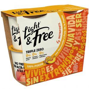 Yogur melocoton fruta de la pasion light free p4x115g