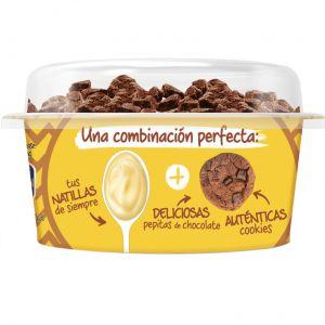 Natillas con topping crunchy cookie chocolate danet 122ml
