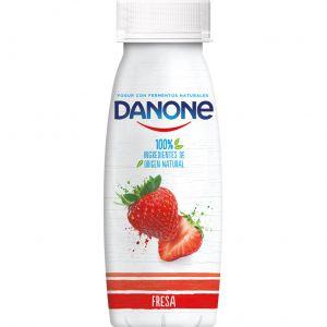 Yogur liquido fresa danone 245gr