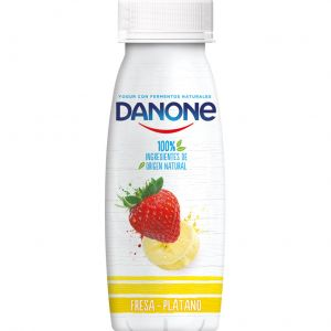 Yogur liquido fresa-platano danone 245gr