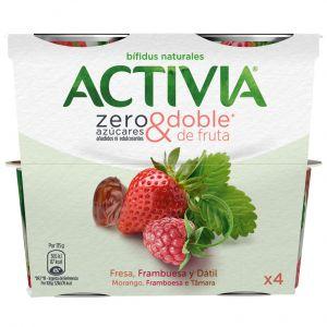 Yogur zero azuc fresa fra activia p4x 115g